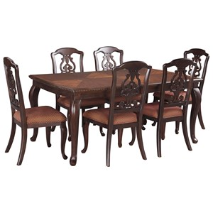 Signature Design by Ashley Gladdenville 7-Piece Table & Chair Set