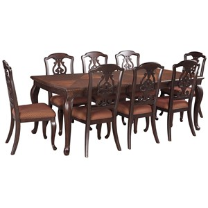 Signature Design by Ashley Gladdenville 9-Piece Table & Chair Set