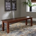 Signature Design by Ashley Manishore Rustic Solid Wood Dining Room Bench