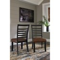 Signature Design by Ashley Manishore Dining Upholstered Side Chair with Ladder Back