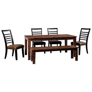 Signature Design by Ashley Manishore Table & Chair Set with Bench