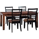 Signature Design by Ashley Manishore 5-Piece Table & Chair Set - Item Number: D648-25+4x01