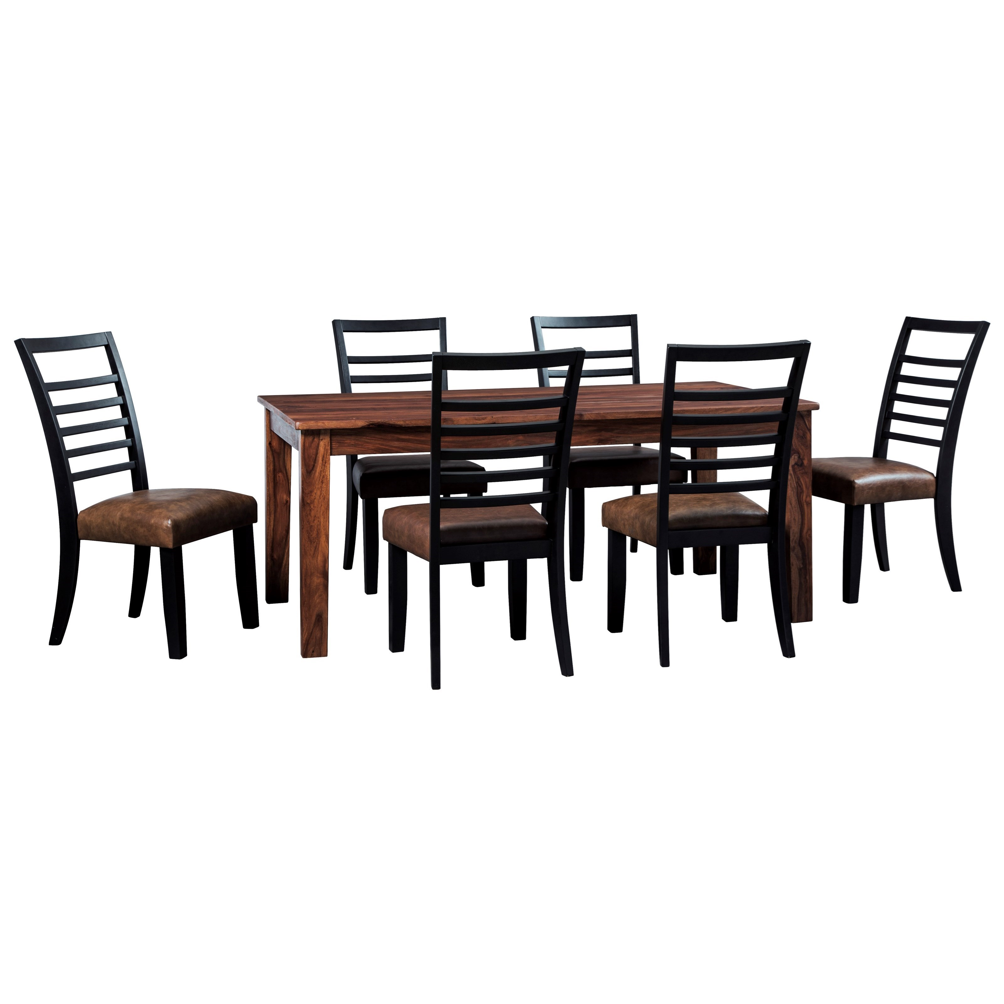 Signature Design By Ashley Manishore Rustic 7 Piece Table Chair Set Value City Furniture