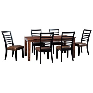 Signature Design by Ashley Manishore 7-Piece Table & Chair Set