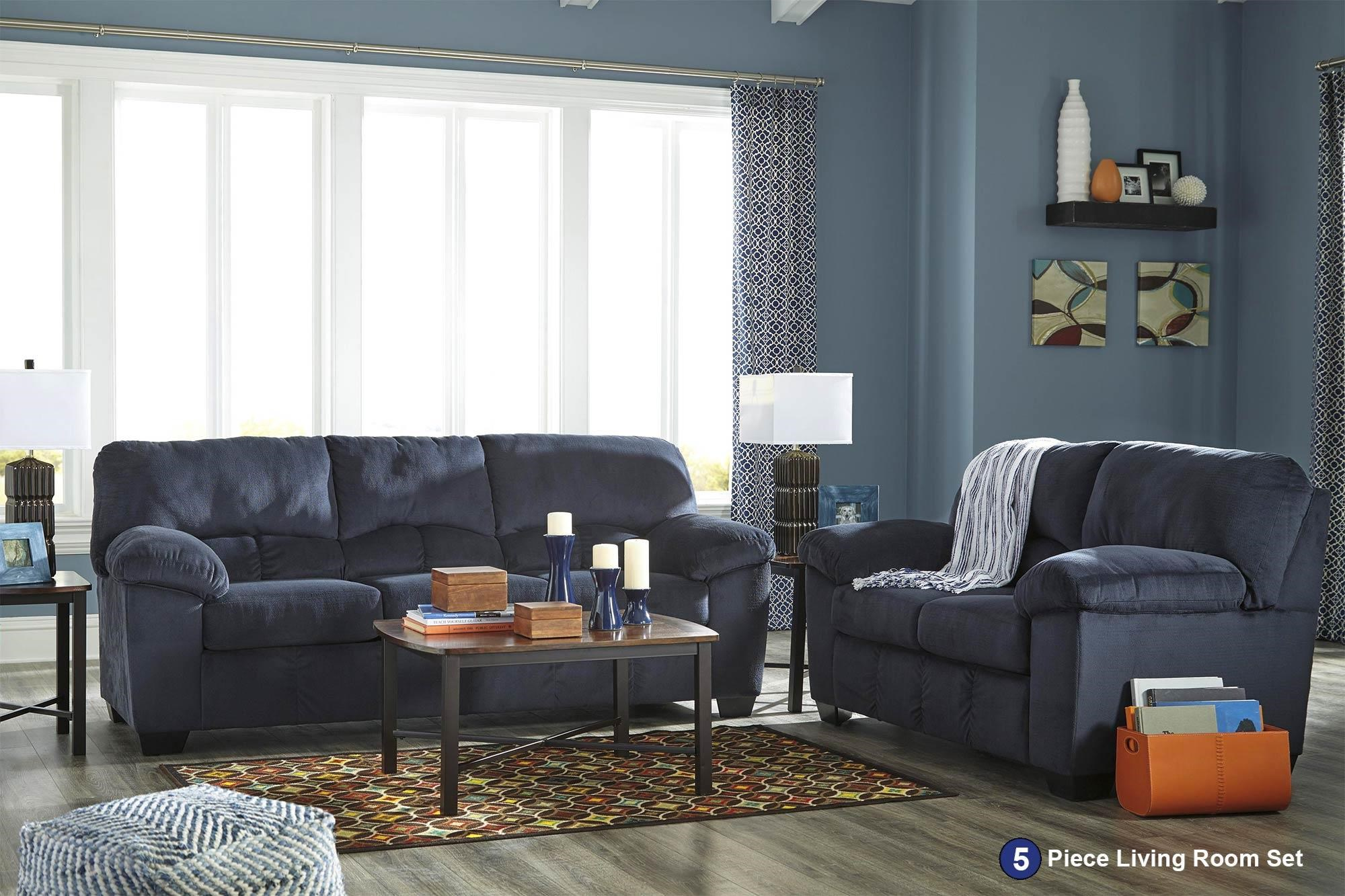 Signature Design by Ashley Dusk 5PC Living Room Package - Item Number: 95402-5PC-SET
