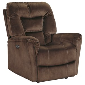 Ashley Signature Design Dakos Power Recliner with Adjustable Headrest