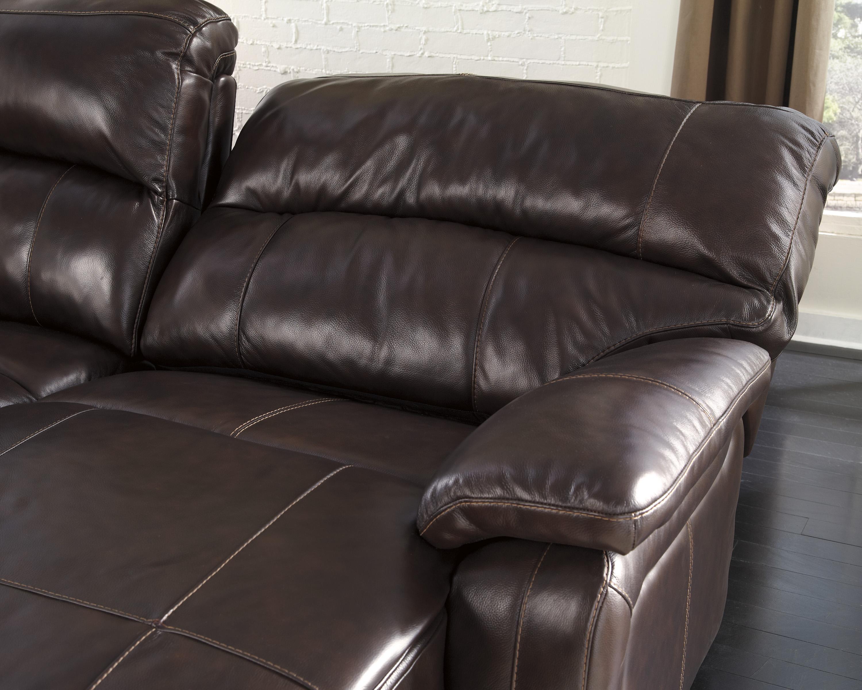 Ashley signature design damacio dark brown reclining for Ashley furniture reclining chaise lounge