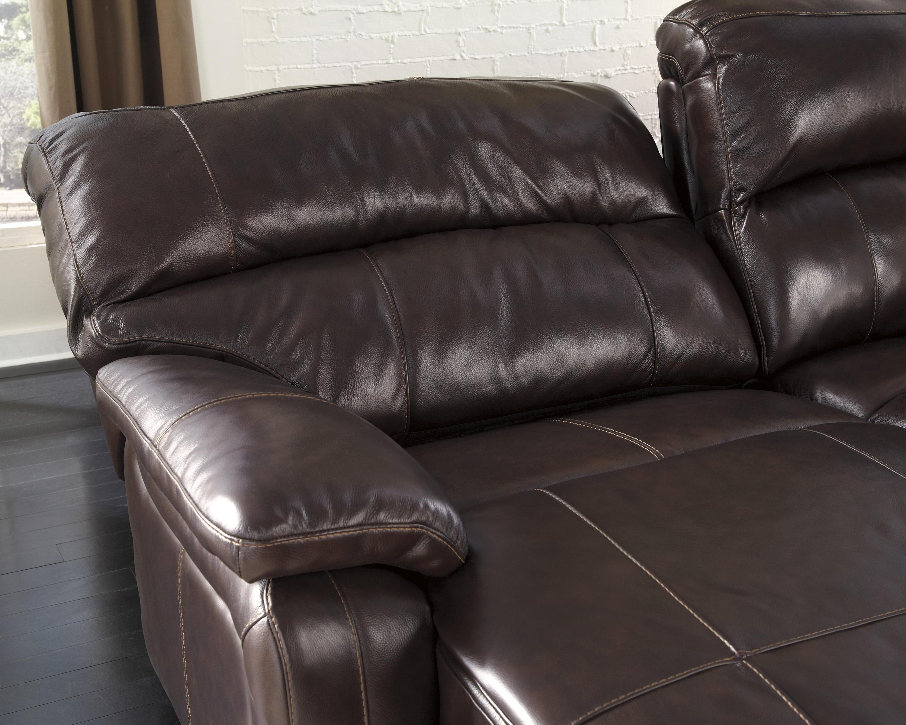 Signature design by ashley damacio dark brown reclining for Ashley chaise recliner