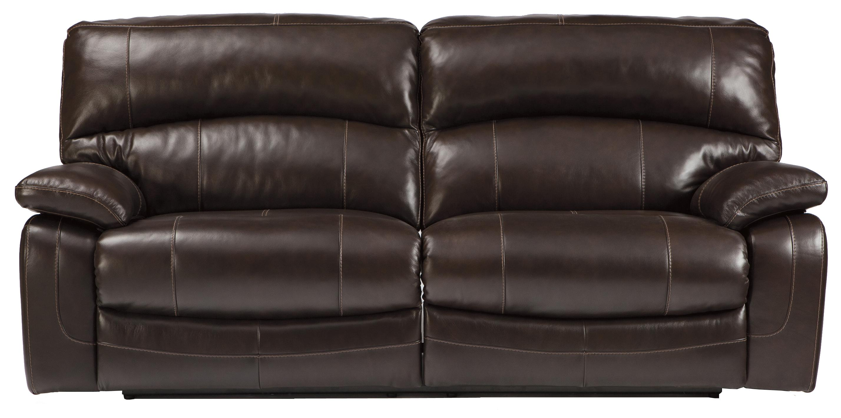 Signature Design by Ashley Damacio - Dark Brown 2 Seat Reclining Sofa - Item Number: U9820081