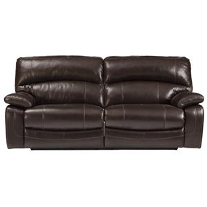 Signature Design by Ashley Damacio - Dark Brown 2 Seat Reclining Sofa