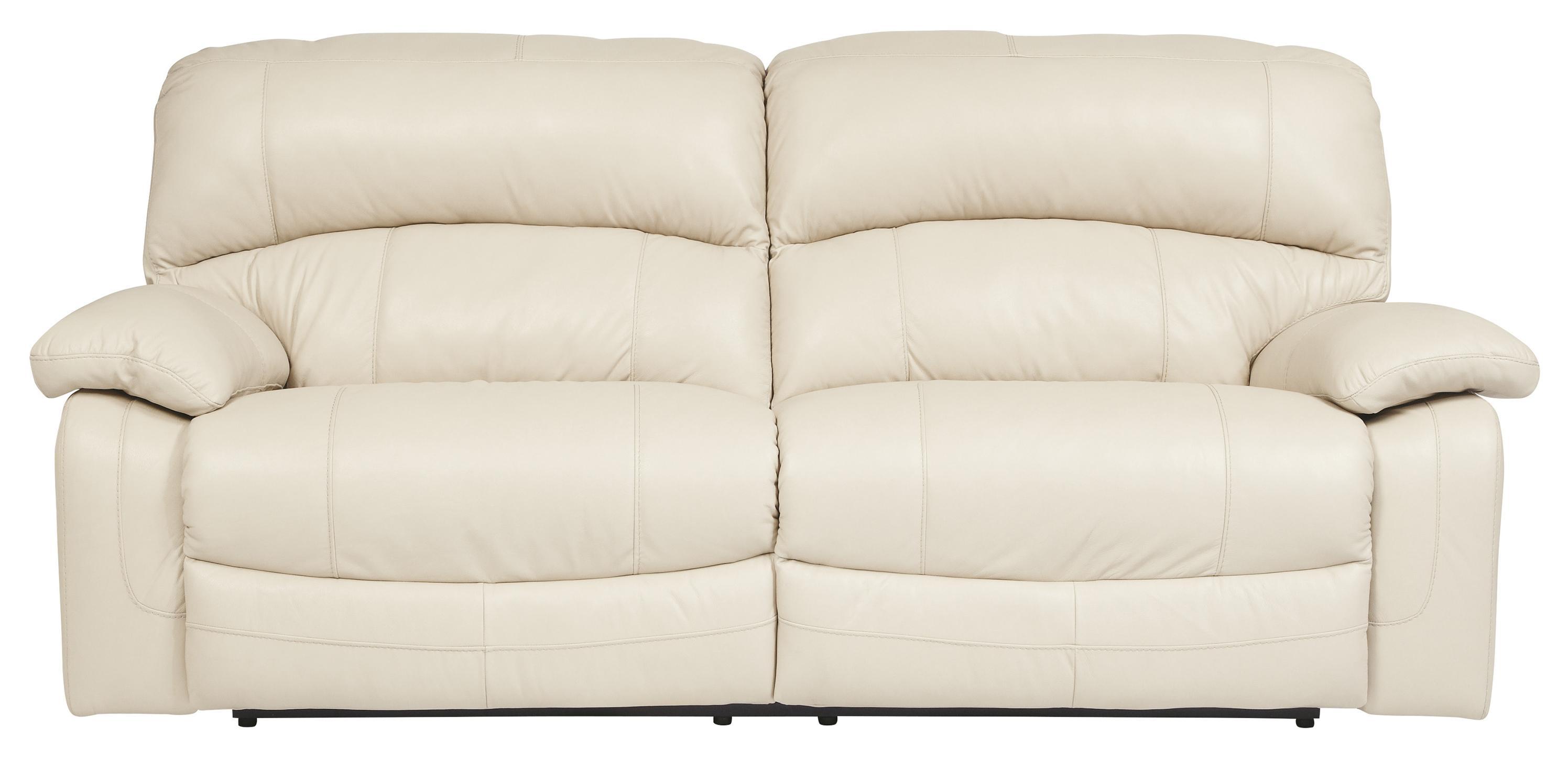 Signature Design by Ashley Damacio - Cream 2 Seat Reclining Sofa - Item Number: U9820181
