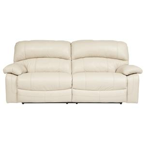 Signature Design by Ashley Damacio - Cream 2 Seat Reclining Sofa