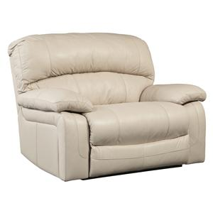 Signature Design by Ashley Damacio - Cream Zero Wall Power Wide Recliner