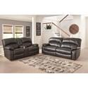 Benchcraft Damacio - Metal Reclining Living Room Group - Item Number: U98213 Living Room Group 1