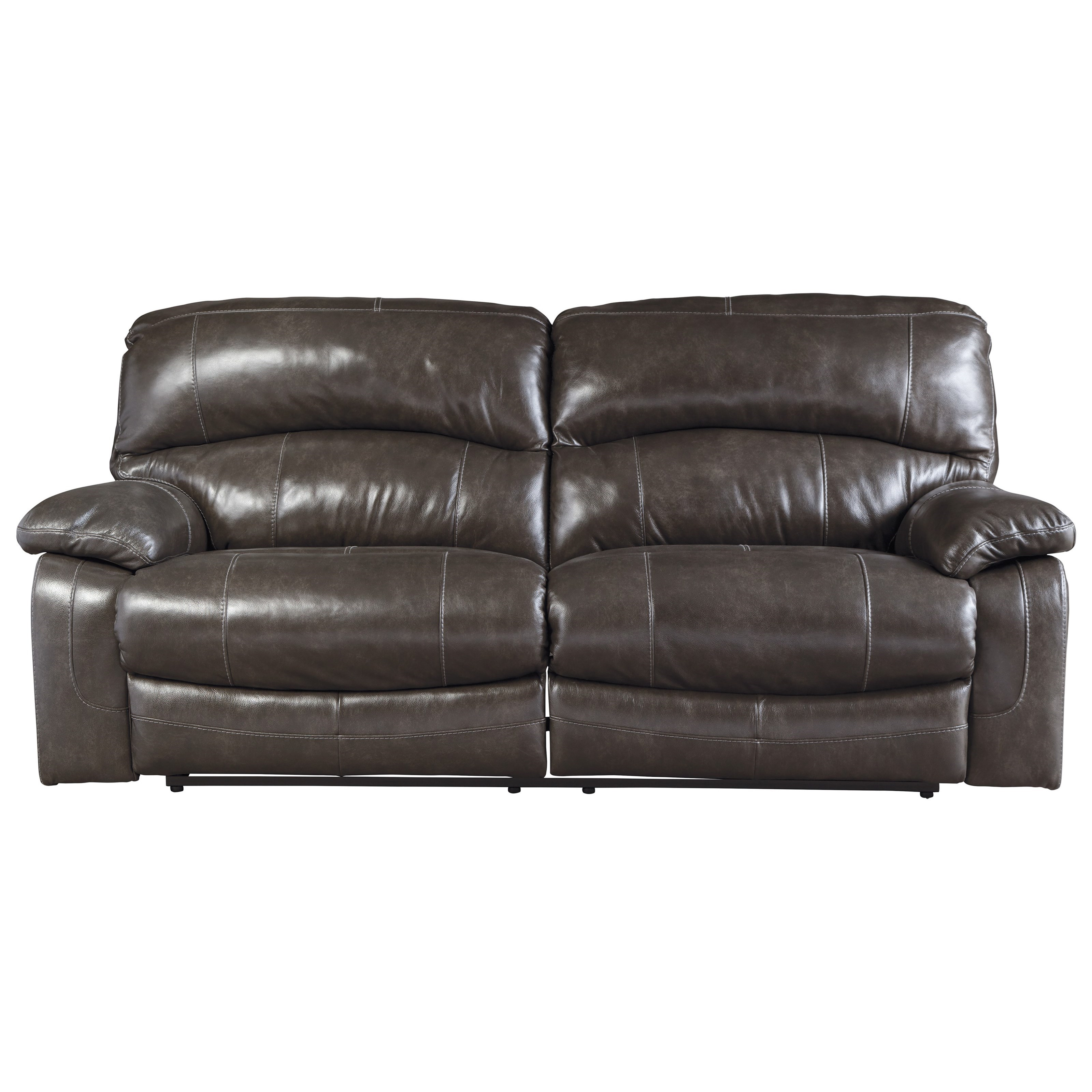 Signature Design By Ashley Damacio Metal U9821347 Leather Match 2 Seat Reclining Power Sofa