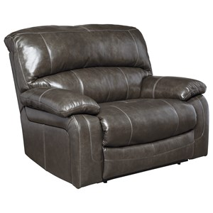 Signature Design by Ashley Damacio - Metal Zero Wall Wide Seat Recliner