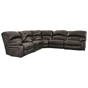 Signature Design by Ashley Damacio - Metal Power Reclining Sectional with Console