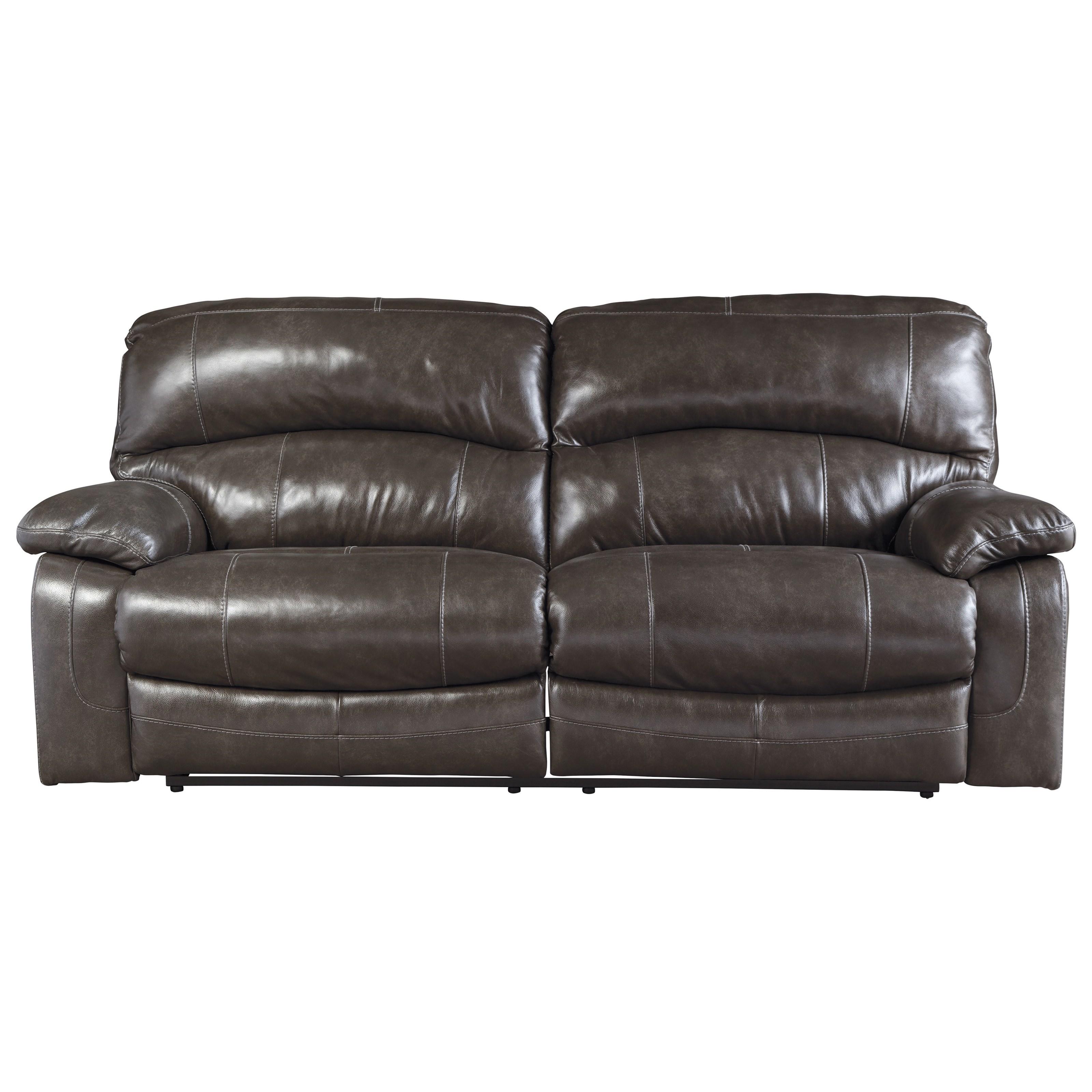 Signature Design By Ashley Damacio Metal U9821381 Leather Match 2 Seat Reclining Sofa