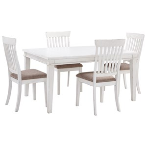 Signature Design by Ashley Danbeck 5 Piece Rectangular Table Set