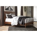 Signature Design by Ashley Daneston Mid-Century Modern Queen Panel Bed