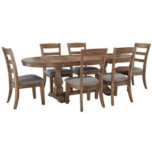 Signature Design by Ashley Davenport 7 Piece Dining Set with Oval Table