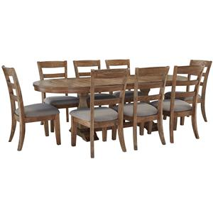 Signature Design by Ashley Danimore 9 Piece Dining Set with Oval Table