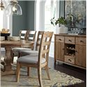 Signature Design by Ashley Danimore 9 Piece Dining Set with Oval Table and Self-Storing Butterfly Leaf
