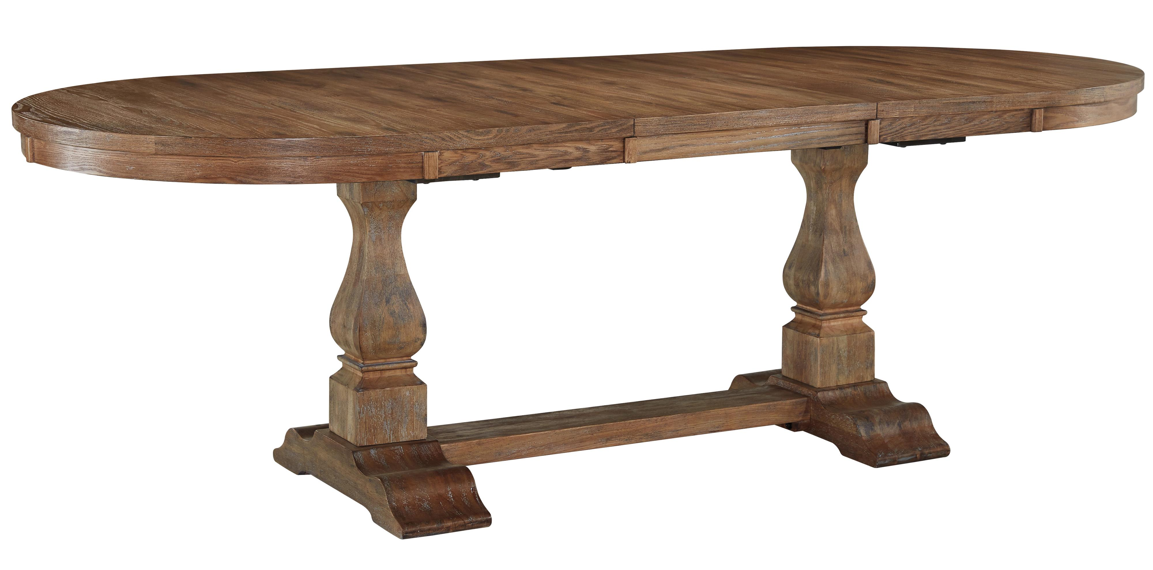 Signature Design by Ashley Danimore Oval Dining Room Extension Table - Item Number: D473-45B+T