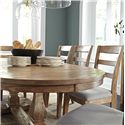 Signature Design by Ashley Danimore Oval Dining Room Extension Table with Self-Storing Butterfly Leaf