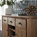 Signature Design by Ashley Danimore Dining Room Server with Removable Wine Rack Storage