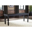 Signature Design by Ashley Dannerville Accent Bench with Turned Legs