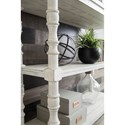Signature Design by Ashley Dannerville Open Bookcase with Turned Posts