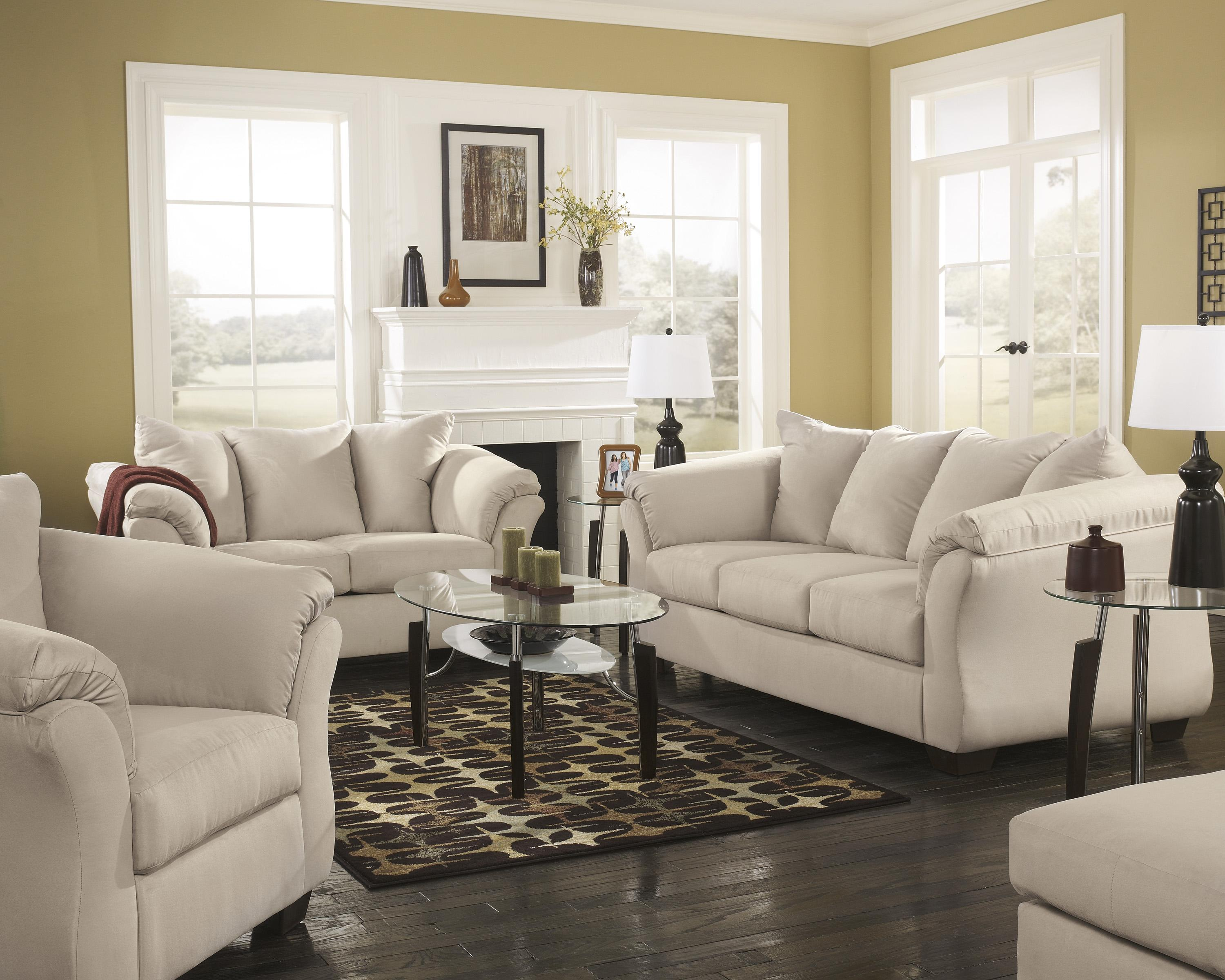 Signature Design by Ashley Darcy - Stone Stationary Living Room Group - Item Number: 75000 Living Room Group 2