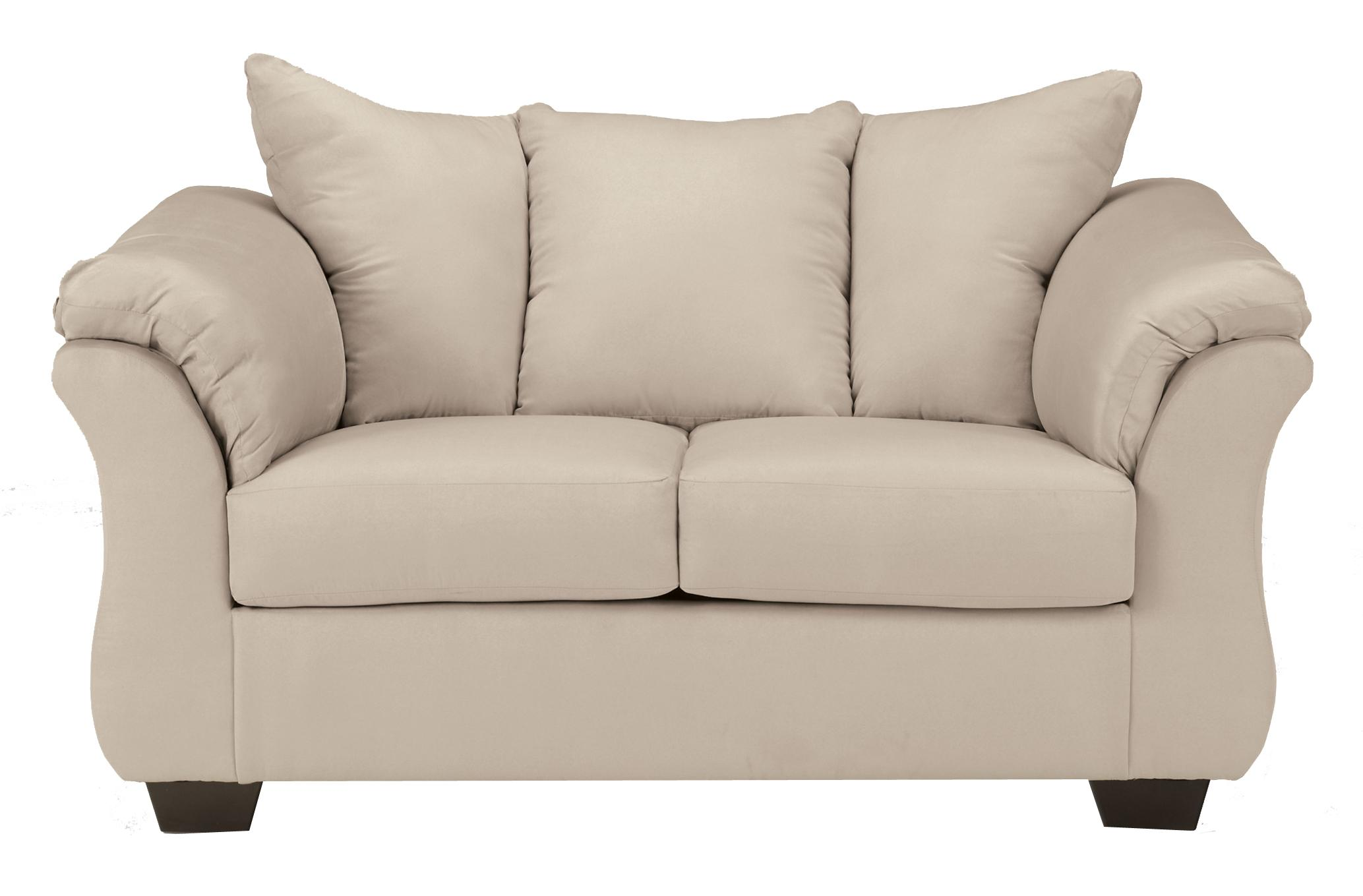 Darcy - Stone Stationary Loveseat by Ashley (Signature Design) at Johnny Janosik