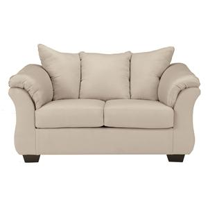 Signature Design by Ashley Furniture Darcy - Stone Stationary Loveseat