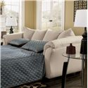 Signature Design by Ashley Darcy - Stone Contemporary Full Sleeper with Flared Back Pillows