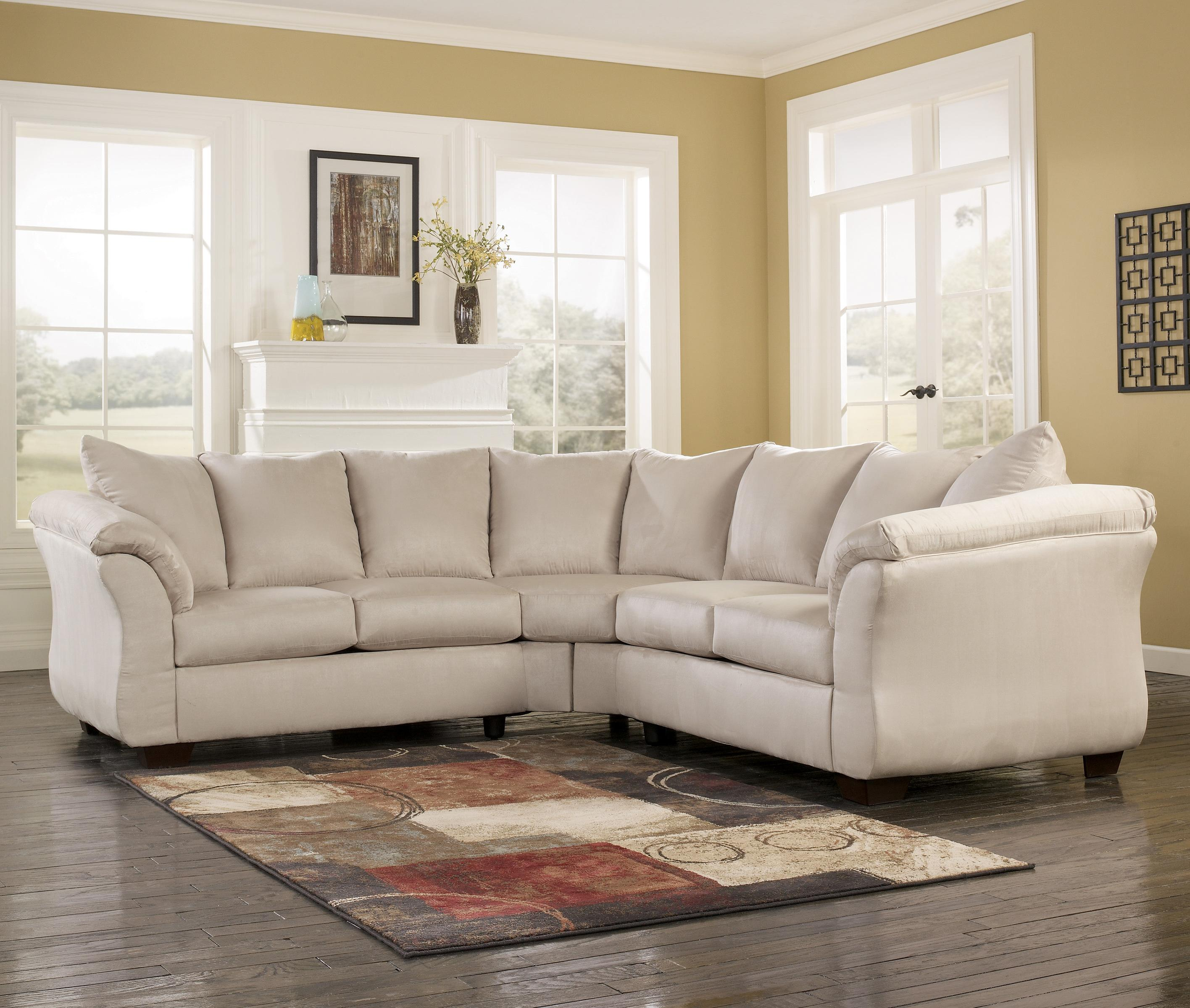 Signature Design by Ashley Darcy - Stone Sectional Sofa - Item Number: 7500055+7500056