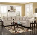 Signature Design by Ashley Darcy - Stone Contemporary Sectional Sofa with Sweeping Pillow Arms