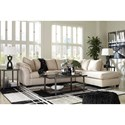 Signature Design by Ashley Darcy - Stone Contemporary 2-Piece Sectional Sofa with Right Chaise