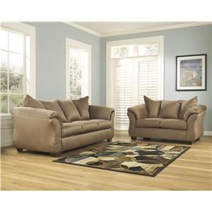 Ashley Signature Design Darcy - Mocha Stationary Living Room Group