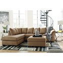 Signature Design by Ashley Darcy - Mocha Stationary Living Room Group - Item Number: 75002 Living Room Group 10