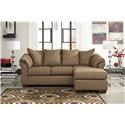 Signature Design by Ashley Darcy - Mocha Chaise Sofa, Ottoman and Recliner Set - Item Number: 7500218+25+14