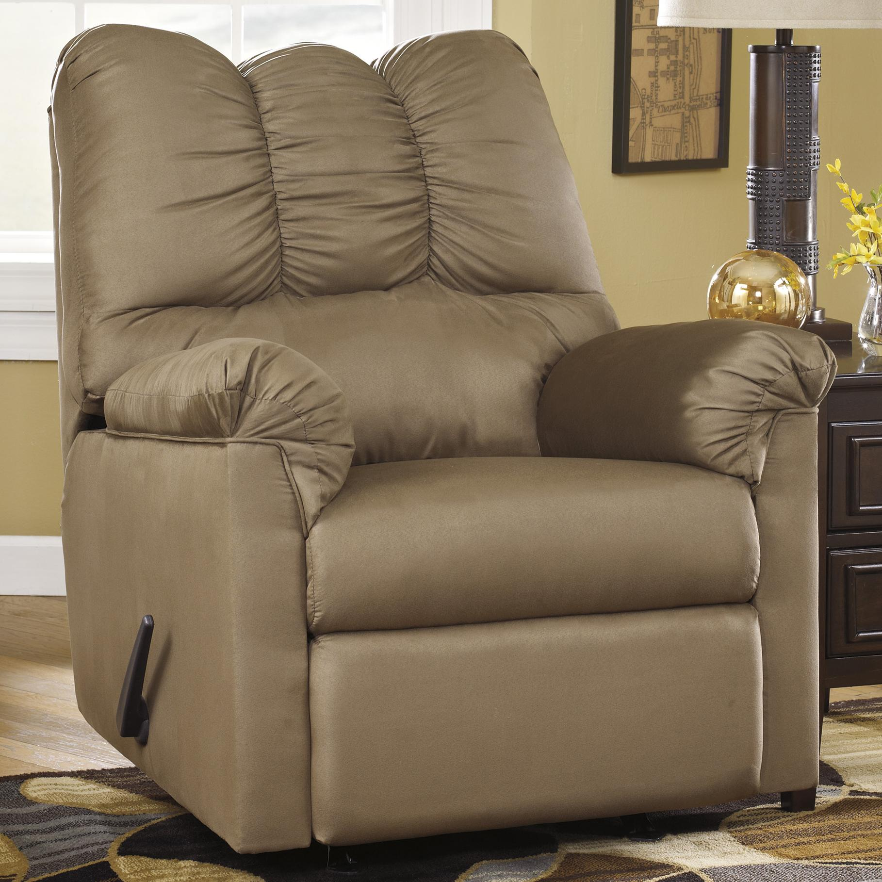 Signature Design by Ashley Darcy - Mocha Rocker Recliner - Item Number: 7500225
