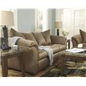 Signature Design by Ashley Darcy - Mocha Sofa and Recliner Set - Item Number: 7500238+25