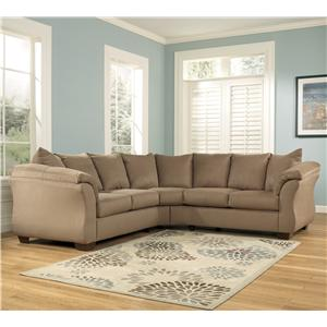 Signature Design by Ashley Darcy - Mocha Sectional Sofa