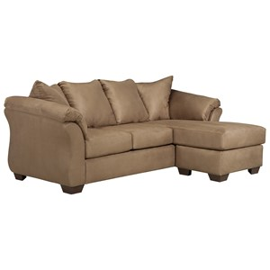 Signature Design by Ashley Darcy - Mocha Full Sofa Chaise Sleeper