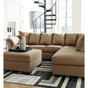 Signature Design by Ashley Darcy - Mocha Contemporary 2-Piece Sectional Sofa with Right Chaise