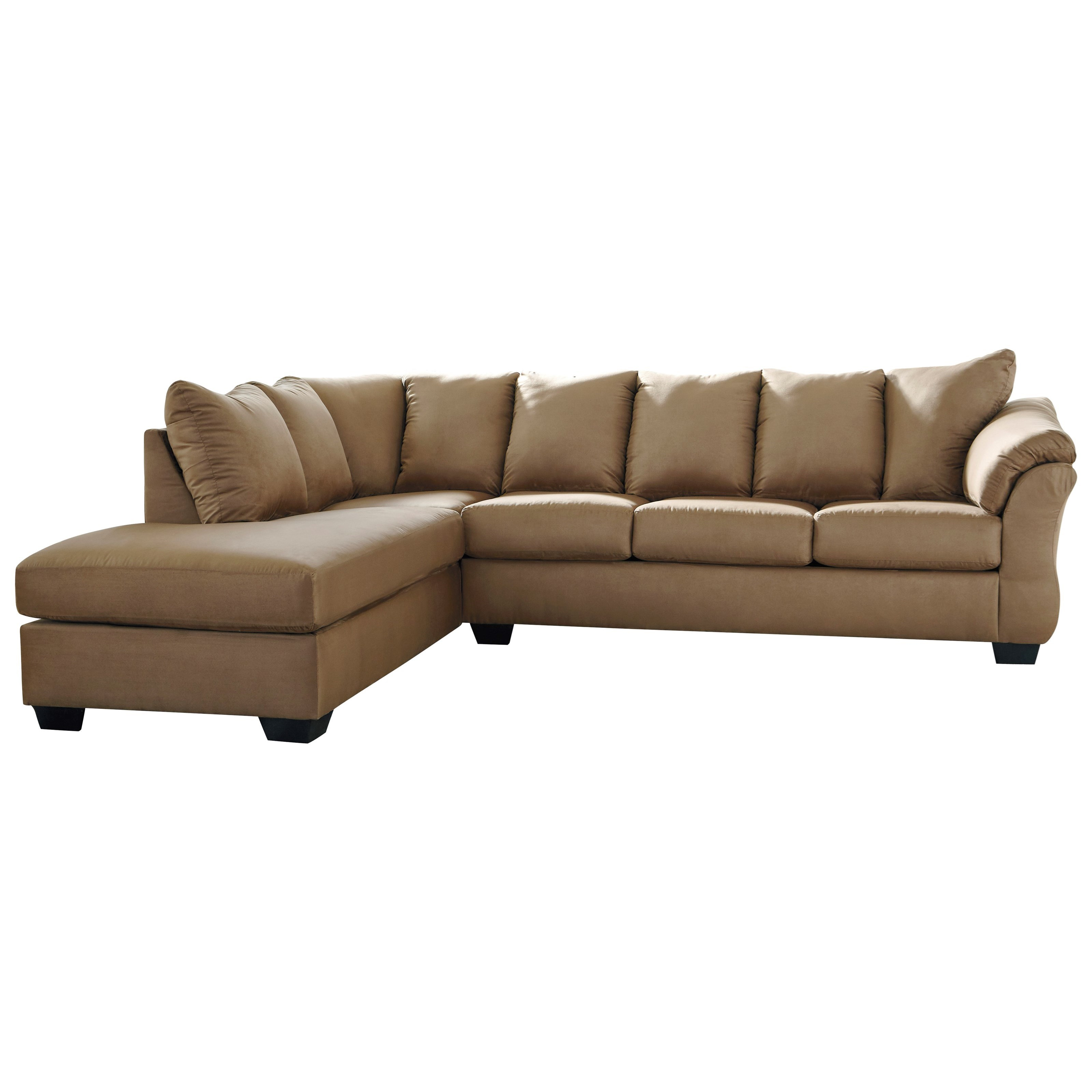 Darcy - Mocha 2-Piece Sectional Sofa with Chaise by Ashley (Signature Design) at Johnny Janosik