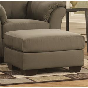 Signature Design by Ashley Furniture Darcy - Sage Ottoman