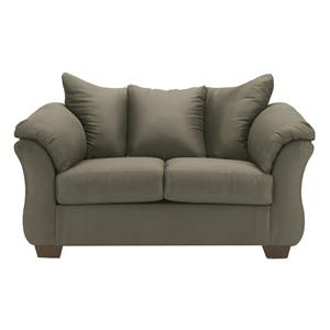 Signature Design by Ashley Furniture Darcy - Sage Stationary Loveseat